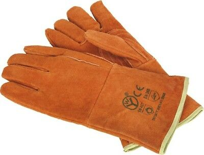 Sealey Leather Welding Gauntlets Gloves Lined Heavy-Duty Pair | XL