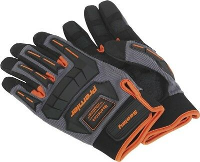 Sealey Mechanic's Protective Gloves Padded Anti-Slip Anti-Collision | Large