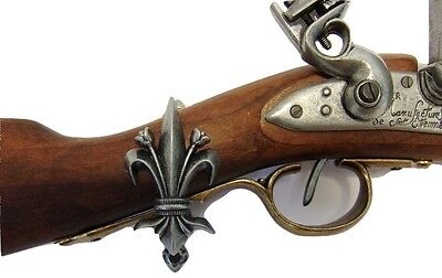 Denix Fleur De Lis Sword Gun Wall Display Hangers Spring Loaded Set of 2 New