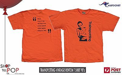 Trainspotting Renton Vintage 1990'S T shirt BNWOT Scotland Dutch Football Large