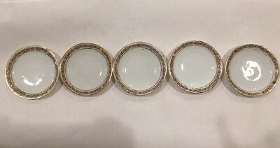Beautiful Vintage Silesia China Butter Pats, Set Of Five.