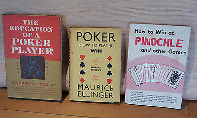 The Education Of A Poker Player, Poker Play & WIN, Win at Pinochel - lot of 3