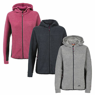 Trespass Floxy Womens Casual Full Zip Fleece Hoodie Breathable Active Pullover