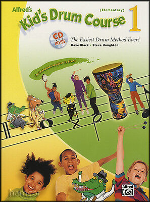 Alfred's Kid's Drum Course Book 1 Elementary Percussion Music Book with CD