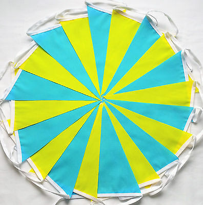 Tour De Yorkshire 2018 Yellow Turquoise Blue Fabric Bunting Bundle 20ft /6m TDY