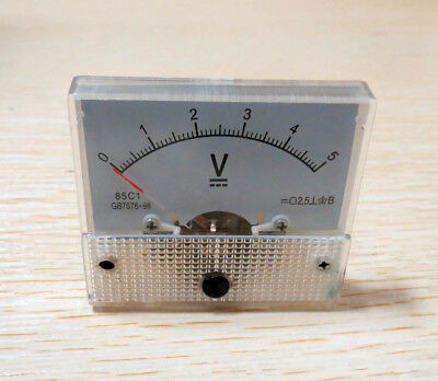 DC 5V  Analog Panel Voltmeter Volt Voltage Meter Gauge 85C1 Class 2.5 DC 0-5V