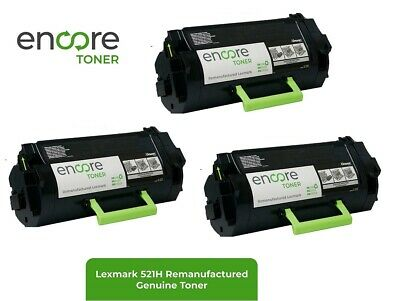 3 pieces Lexmark 521H High Yield Toner to Lexmark MS810 MS811 MS812 Series  25K