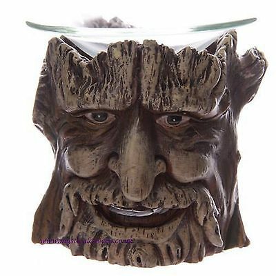 Interesting & Unusual Treeman Green Man Oil Burner with Glass Dish ~ BNIB~