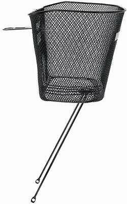 "M-Wave Bicycle Cycle Bike Basic Wire Basket For 1"" Headset Black"