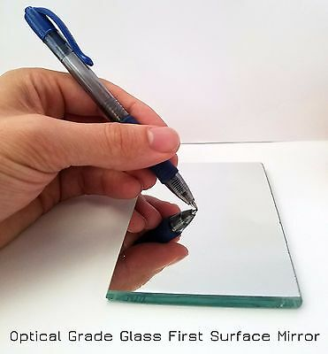 "8""x8"" Glass First Surface Mirror - 96% Reflective Optical Grade - 1/4"" Thick"