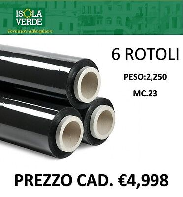 Film Estensibile Manuale Nero 6 Rotoli