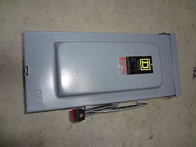 Square D 60A 600V 3R 3 Ph Heavy Duty Disconnect Safety Switch Hu362Rb