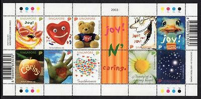 SINGAPORE MNH 2003 SG1280-89 Greetings Stamps - Joy and Caring