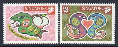 SINGAPORE MNH 2001 SG1082-83 Chinese New Year - Year of the Snake