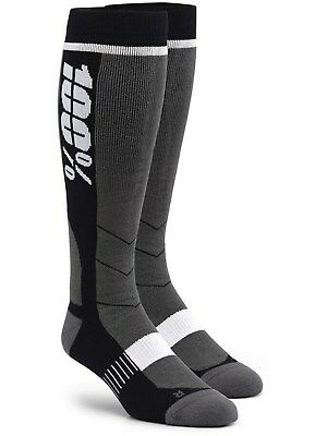 100 Percent Black Hi-Side MX Socks