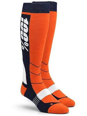 100 Percent Orange Hi-Side MX Socks