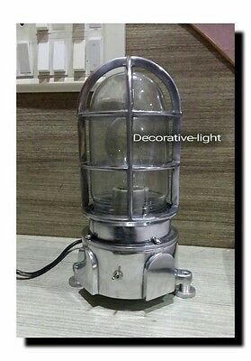NAUTICAL LIGHT MARINE LIGHT SHIP ALUMINIUM BULKHEAD PASSAGE Table LIGHT