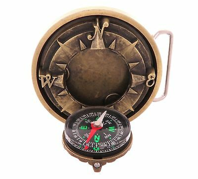 Compass 3D Star Bronze Plated Belt Buckle