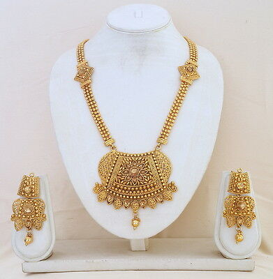 Bollywood Fashion Indian Traditional Ethnic Long Adjustable Chain Jewelry Sets.