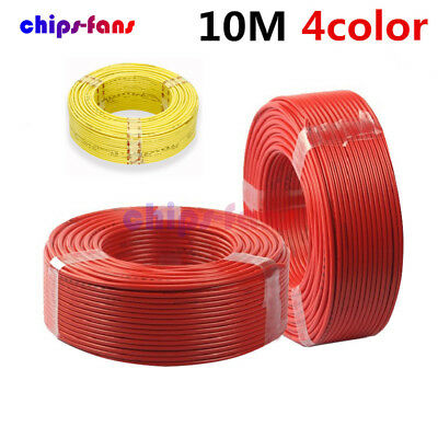 10M 300V Flexible Stranded of UL-1007 24 AWG Wire Cable Yellow/Blue/Red/Black