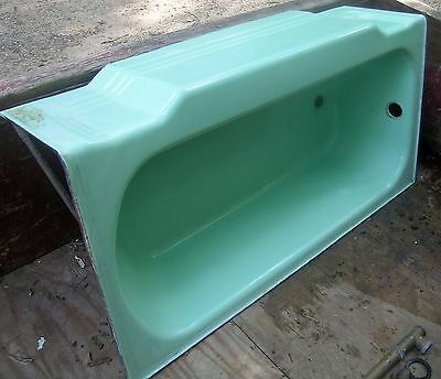 Bathtub, Vintage 1956, Jadeite Green Porcelain over cast iron Tub, Standard A-R