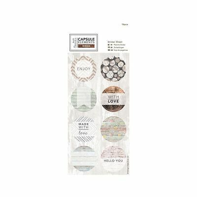 Elements Wood Papermania Rustic Craft Collection - Sticker Sheet (16pcs)