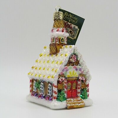 Gingerbread Church Merck Old World Christmas Ornament 20077