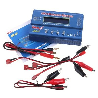 Lipro Balance Charger iMAX B6 AC Digital NiCD LCD RC NiMh Discharger Power Adapt