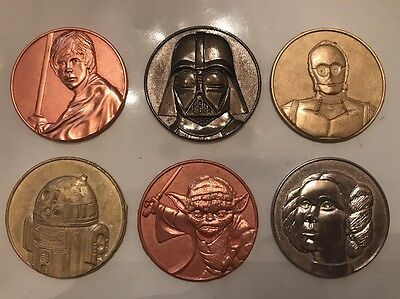 Lot Of Six Star Wars Coins: California Lottery Promo