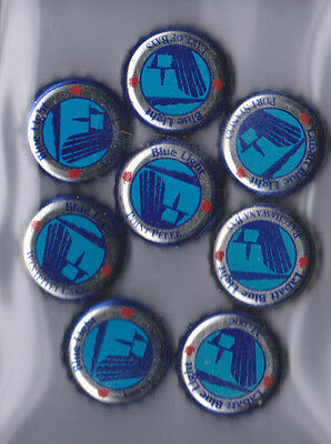 8X Labatt's Blue - Blue Light Collectible Beer Caps Summer cottage Lakes 1990's