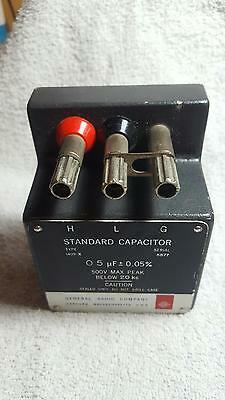 General Radio 1409-X Standard Capacitor 0.5 Uf