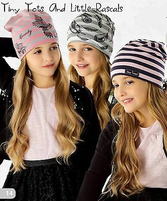 Girls Toddlers Spring Autumn Cotton Elastic Hat Beanie Size 12 mths - 8 years