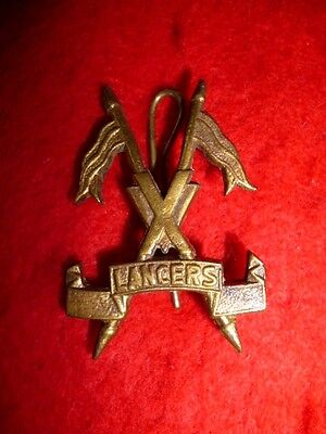 Imperial Indian Army - 15th Lancers Cavalry Cap Badge - Colonial India