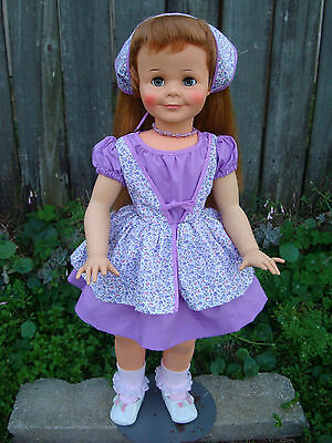 "Miss Ideal doll Reproduction Dress for a 28""-30"" tall ""PURPLE DRESS ONLY"""