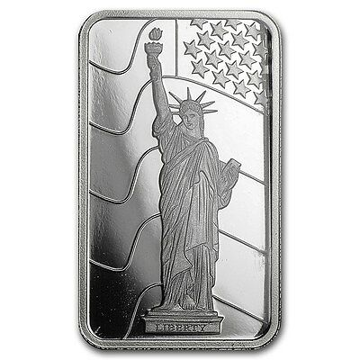 PLATINUM ~1~GRAM PURE .999 ~ STATUE of  LIBERTY ~SEALED~ PAMP SUISSE BAR ~$64.88