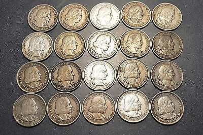 1893 Columbian Expo Half Dollar - Fifty Cent Roll (20 coins) - Silver Free Ship