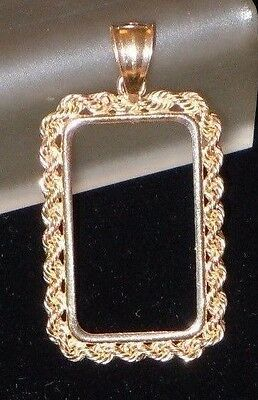 14~Kt Solid Gold ~For 10~Gram Size~Solid  Rope Bezel ~3.3 Grams Gold ! ~ $144.88