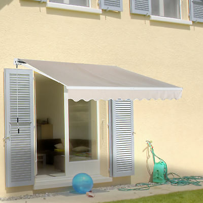 Outsunny 3 x 2m Outdoor Door Awning Wall Mounted Canopy Garden Yard Patio Cover