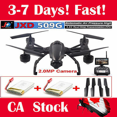 JXD 509G Drone RC Quadcopter Helicopter 5.8GHz 4CH 2.0MP Camera FPV+Free Battery