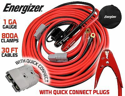 Energizer 1-Gauge 800A Permanent installation kit Jumper Battery Cables with ...