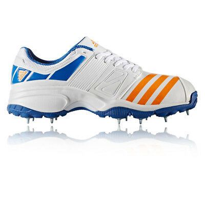 Adidas Howzat FS II Mens White Cricket Training Sports Shoes Trainers Pumps