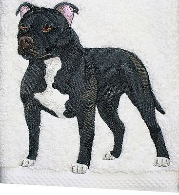 """Staffordshire Bull Terrier Dog  Embroidered Patch 5.8"""" x 6.2"""""""