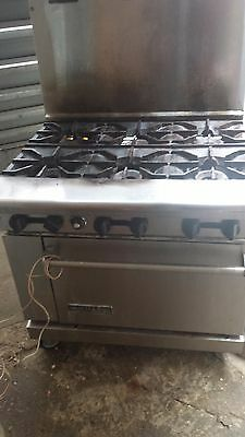 american range, 6 burner stove top with reach in oven