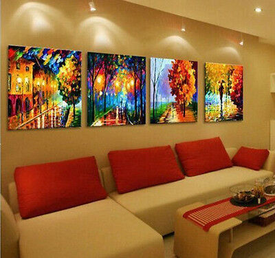 Abstract 100% hand-painted// Art Oil Painting Wall Decor canvas 4pc