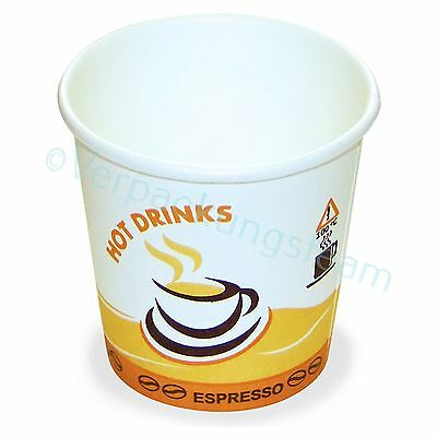"Espresso Mokka Cafe Kaffeebecher bedruckt ""Hot Drinks"" 80 ml 110 ml beschichtet"