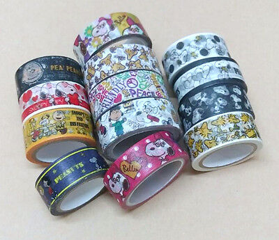 Snoopy Peanuts Washi Tape Paper Masking Decorative Scrapbooking  (15mmx5m)
