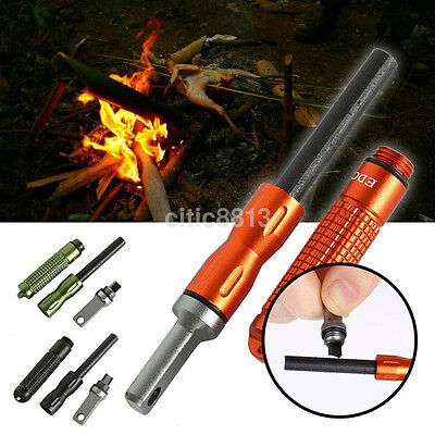 Survival Fire Starter Magnesium Flint Waterproof EDC Outdoor Camping Fire Stone
