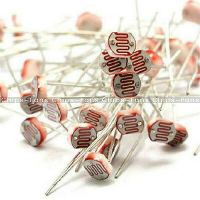30-100x Photoresistor LDR CDS 5mm Resistor Sensor Light-Dependent GL5516 Arduino