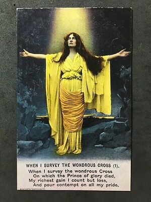 Vintage Postcard - Bamforth Song Card #A88 - When I Survive The Wondrous Cross 1