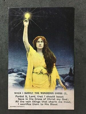 Vintage Postcard - Bamforth Song Card #A89 - When I Survive The Wondrous Cross 2